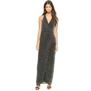 PARKER Theron Beaded Wrap Gown